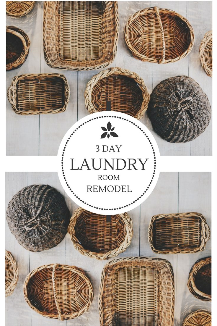 Easy and cheap laundry room remodel refurbish