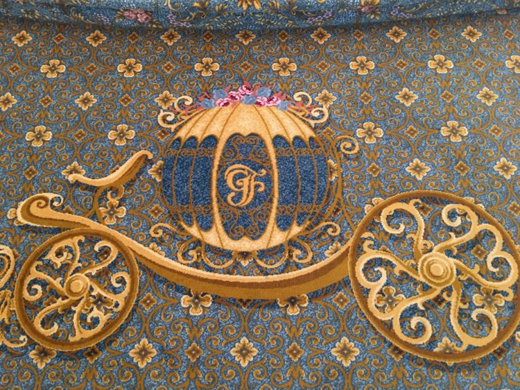 Cinderella's coach carpet design