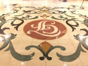 Entry marble floor design
