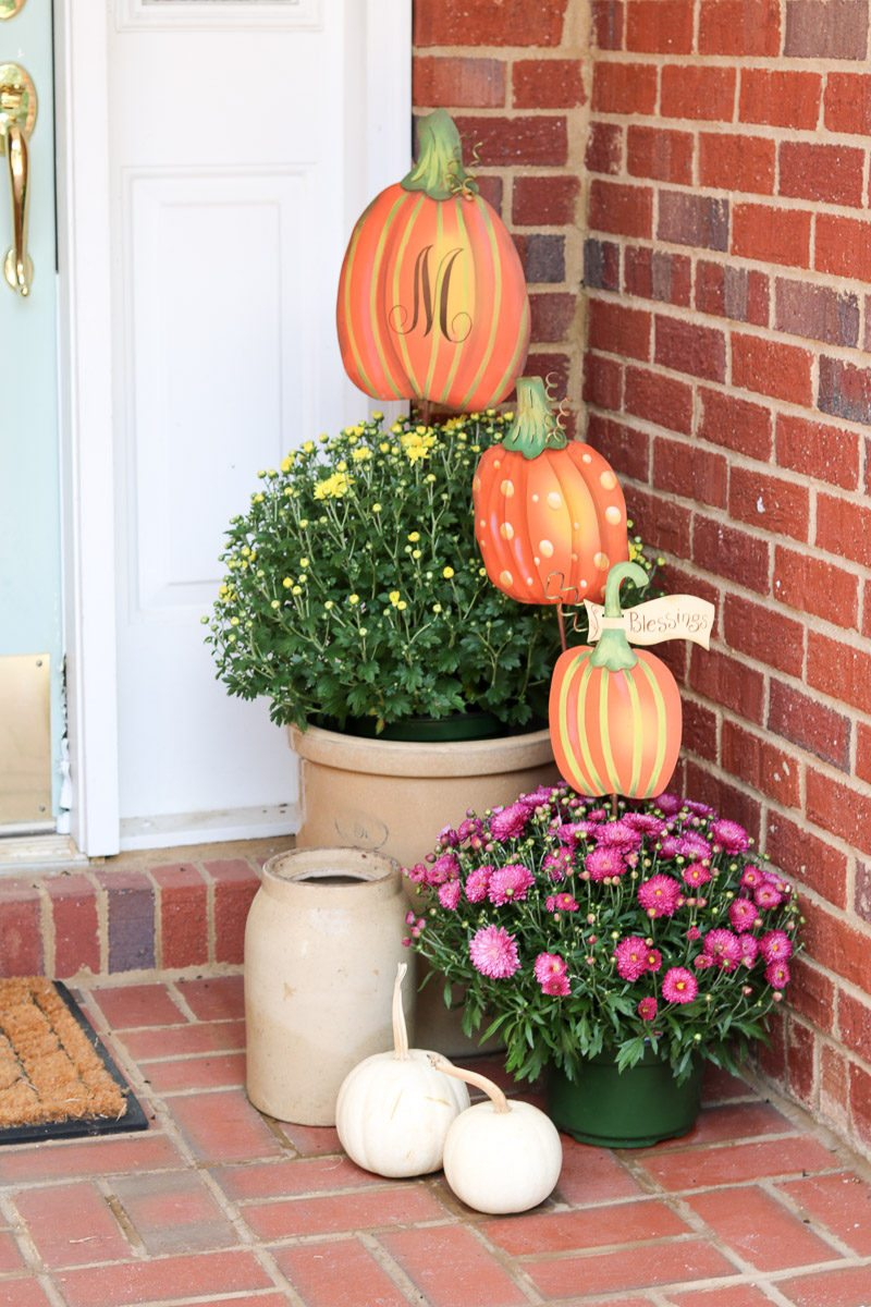 fall home tour porch