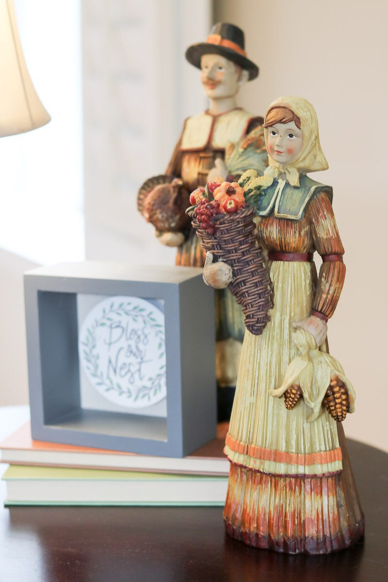 fall home decor pilgrims