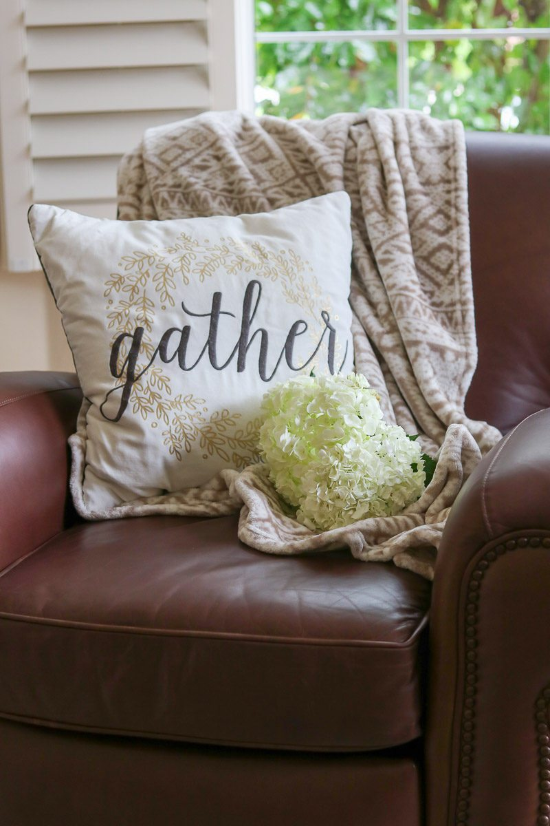 fall home tour pillow