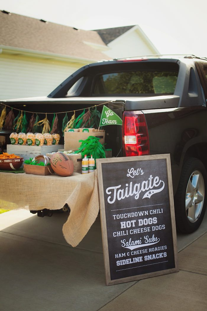 tailgate decorating birthday party