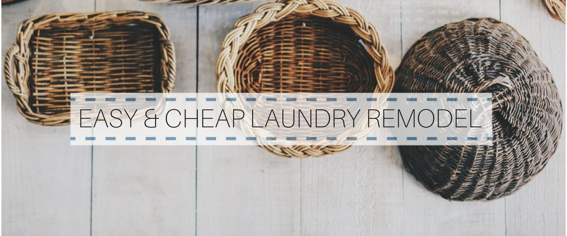 Easy and cheap laundry room remodel decor