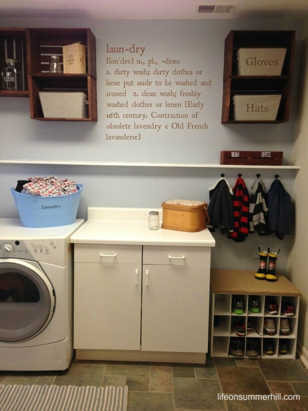 easy and cheap laundry room remodel finished