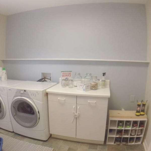 easy and cheap laundry room remodel paint