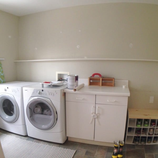 easy and cheap laundry room remodel demo