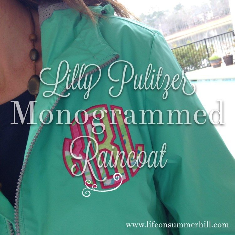 LILLY PULITZER MONOGRAMMED RAINCOAT