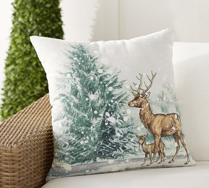Christmas Decorations Deer Pillow