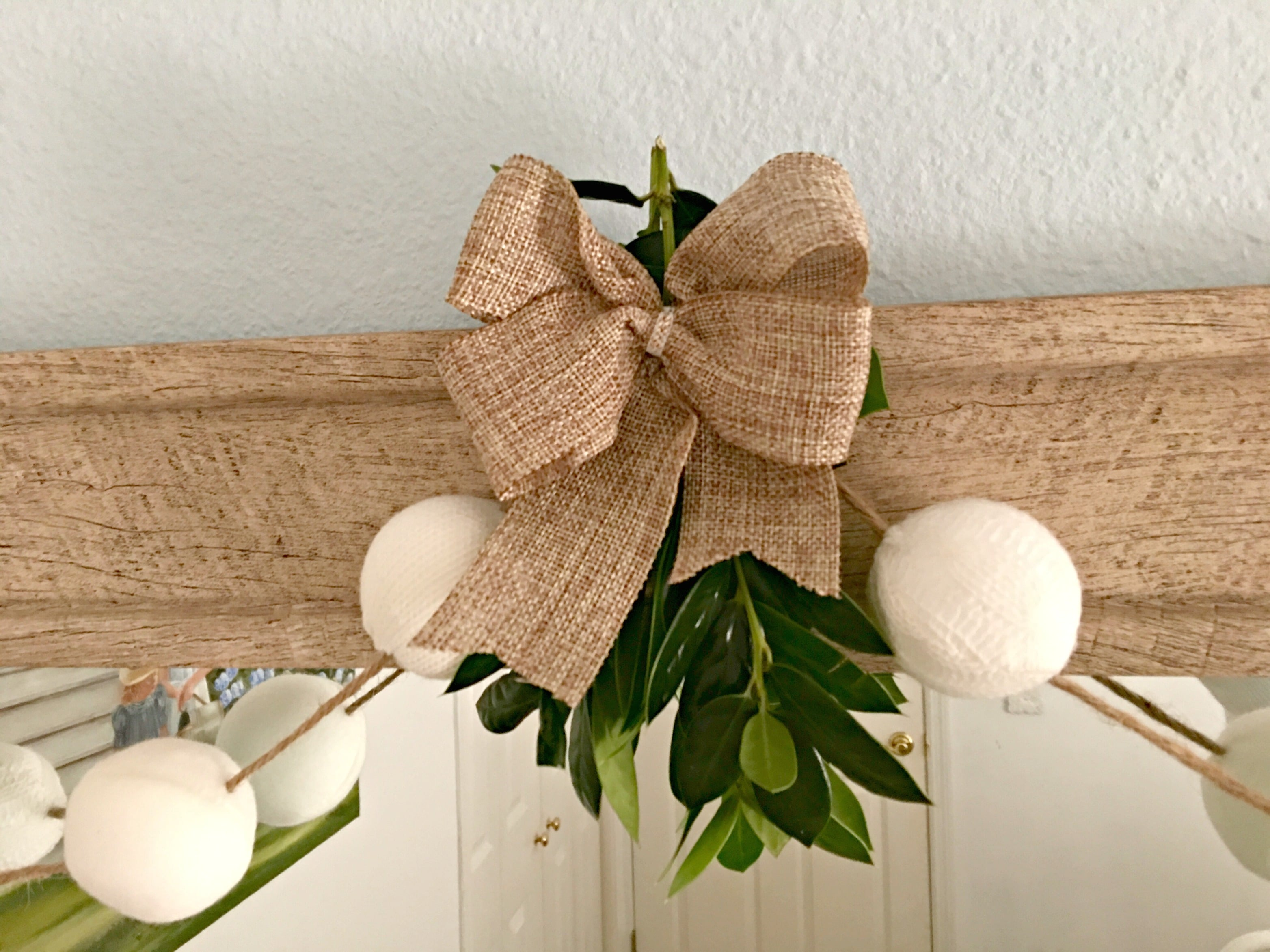 Christmas Decorations Burlap Bow