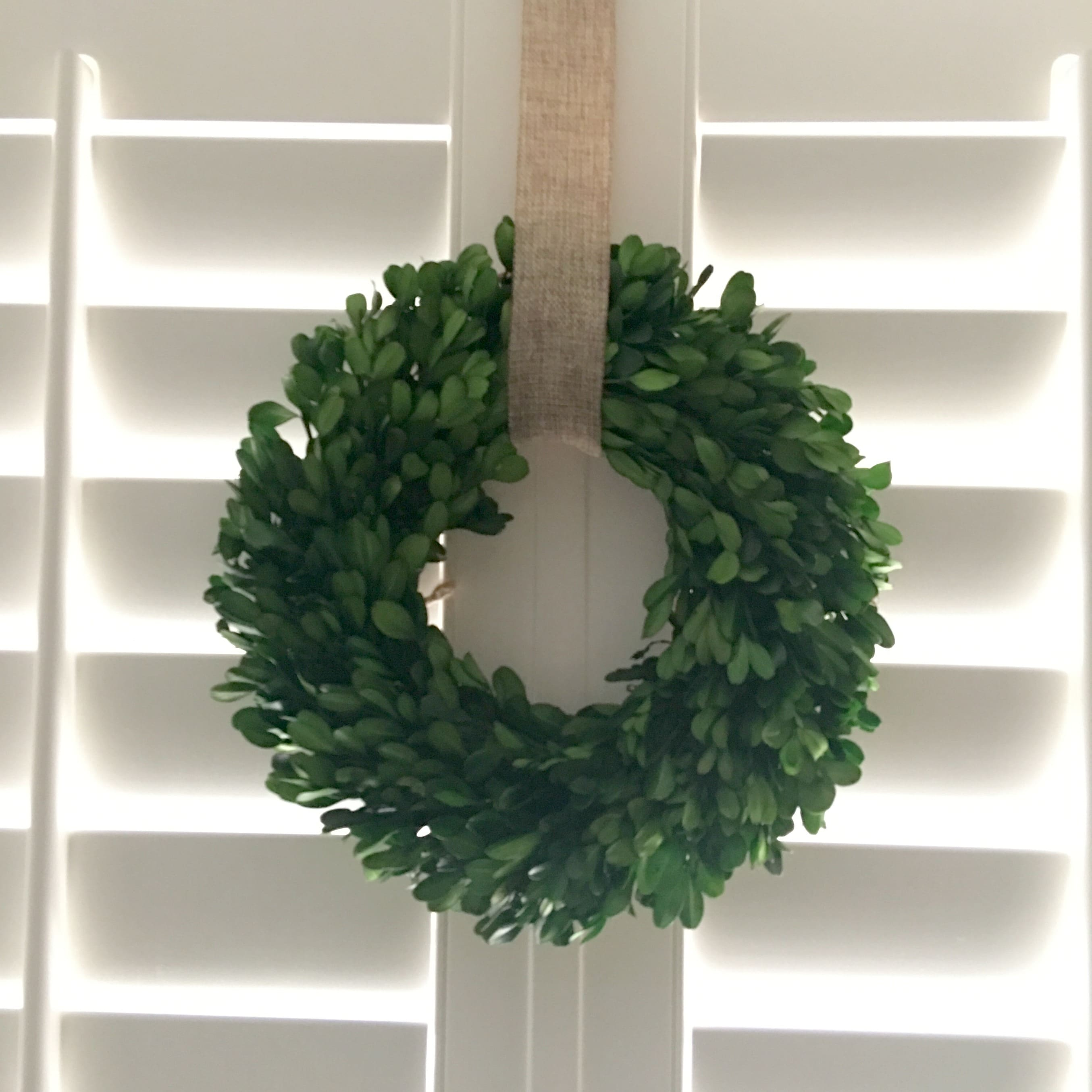 Christmas Decorations Boxwood Wreath