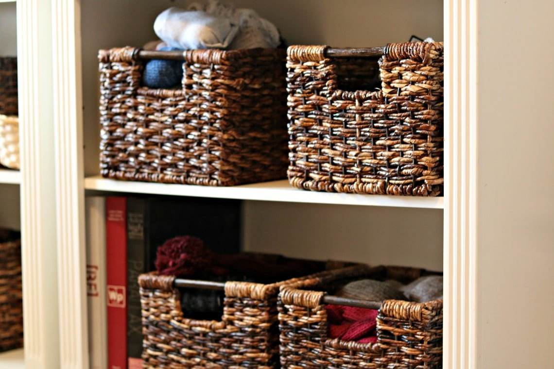 how to organize your home and stay organized by using baskets