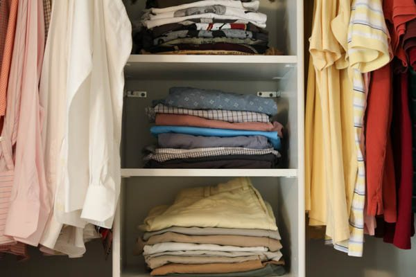 how to organize your home and stay organized by keeping clothes folded neatly.