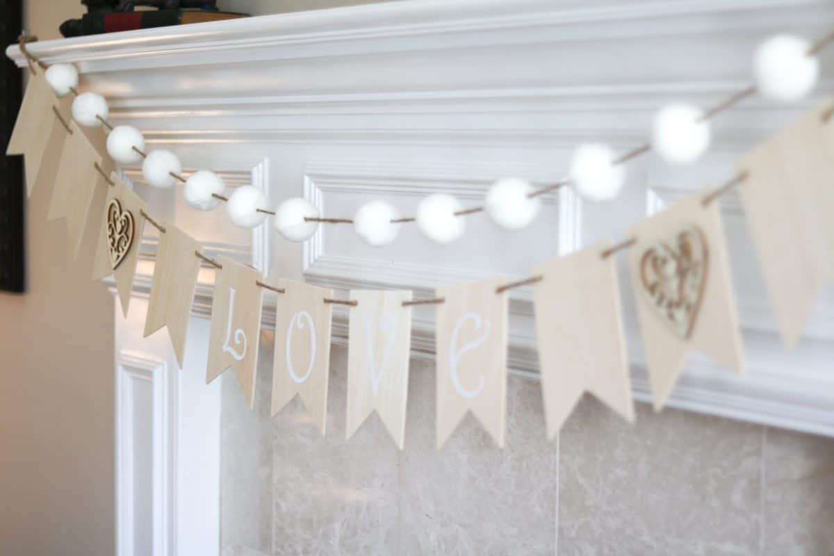 DIY homemade wood crafts banner garland
