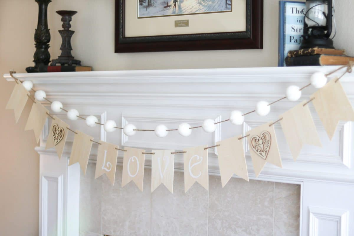 Valentine's wood garland