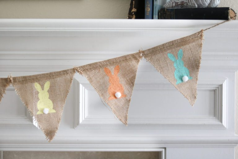 Easter Home Decorations burlap bunny garland