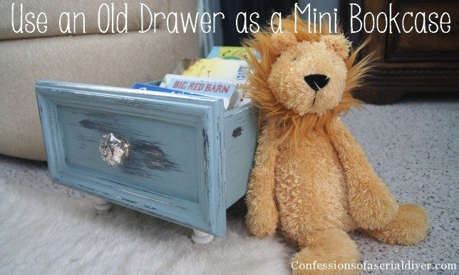 Creativity & Inspiration Tuesday Upcycled Decor Old Drawer Mini Bookcase