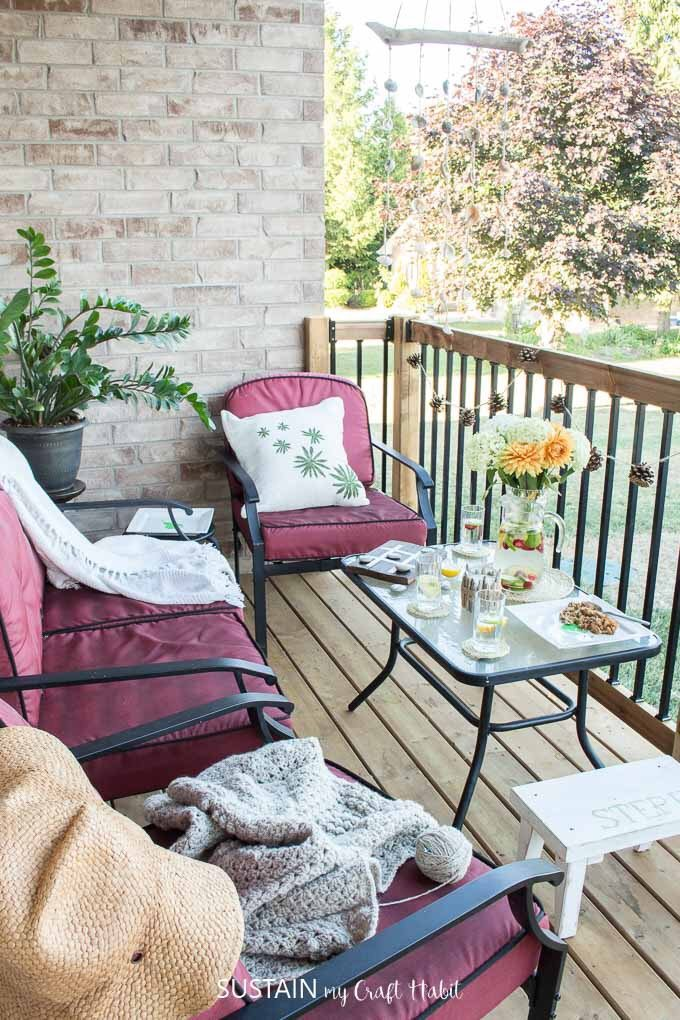 Patio Decorating Ideas - Sustain My Craft Habit