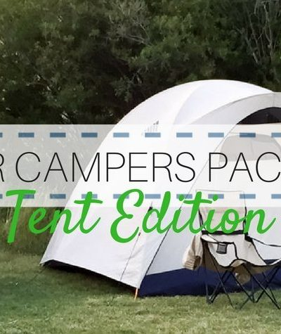 Beginner Camper Packing List Featured Image