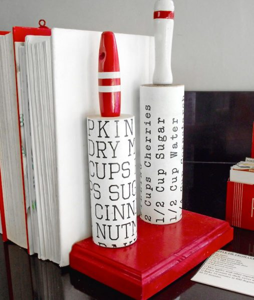 Kitchen Decor Rolling Pin Bookends