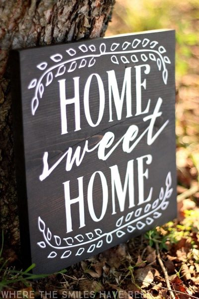 Farmhouse decor home sweet home sign