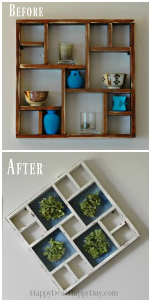 Farmhouse decor display shelf