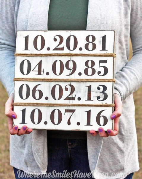 Farmhouse decor birthday sign