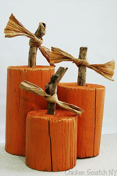 Pumpkin decor fence post pumpkins