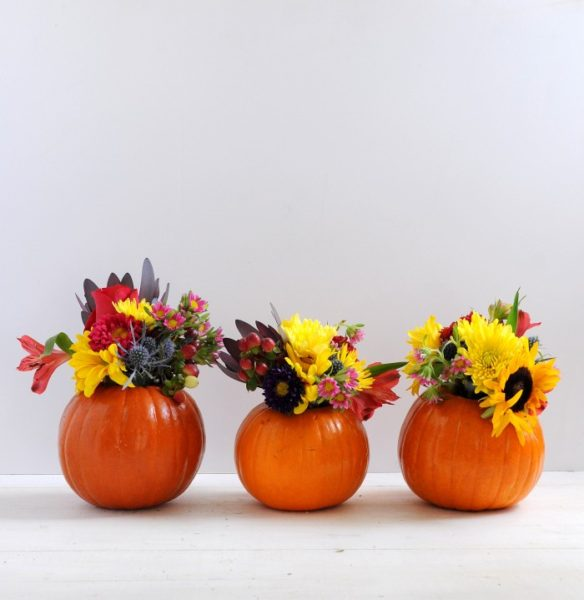 Pumpkin decor mini vase