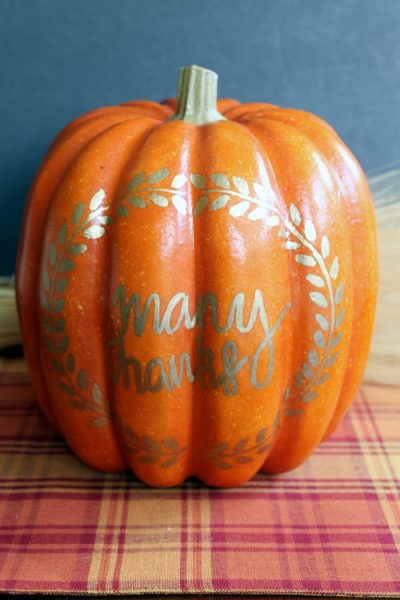Pumpkin decor thankful