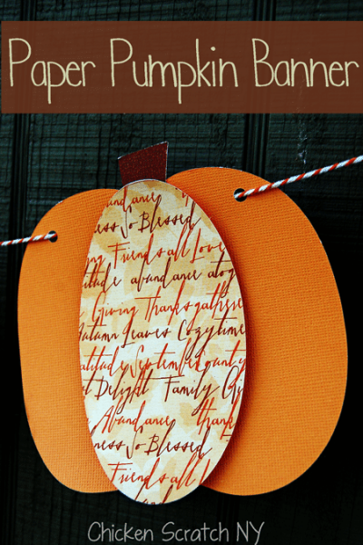 Pumpkin decor banner