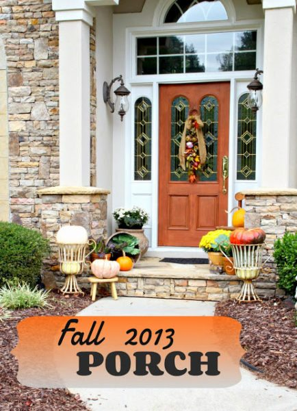 Fall Porch Design traditional
