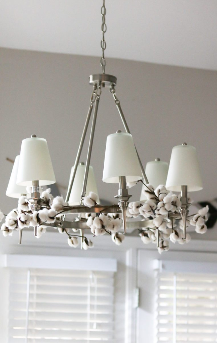 cotton decor tip chandelier
