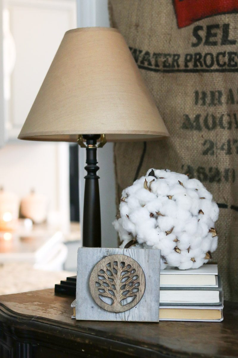 cotton decor tip end table