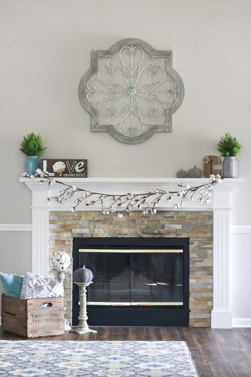 cotton decor tip fireplace