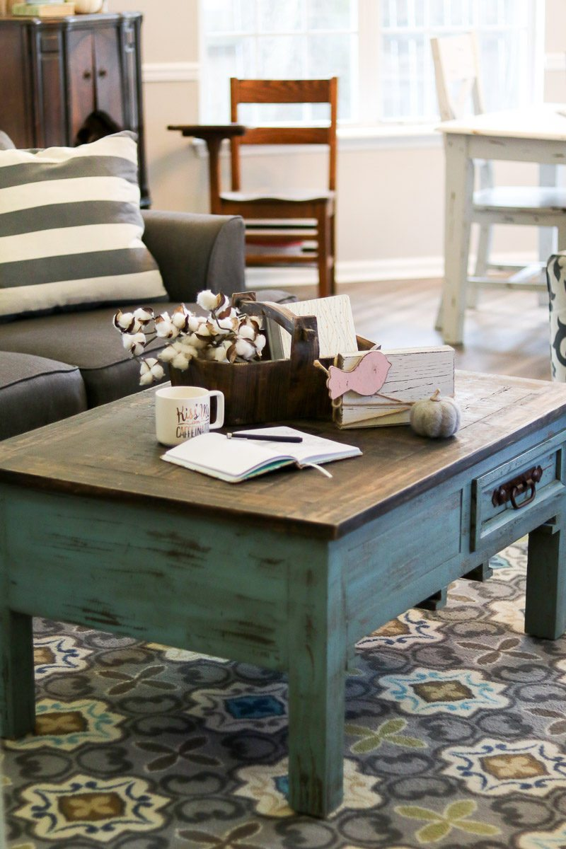 cotton decor tip coffee table