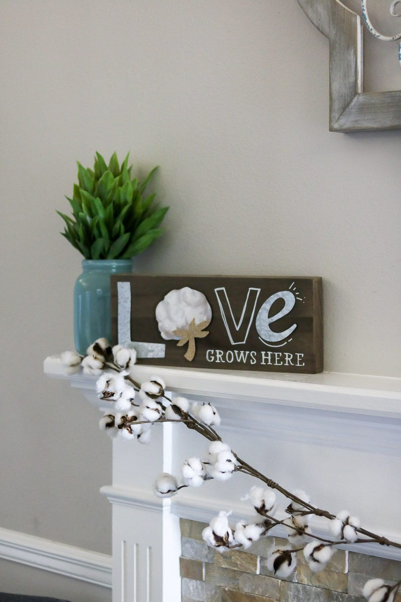 cotton decor tip mantle