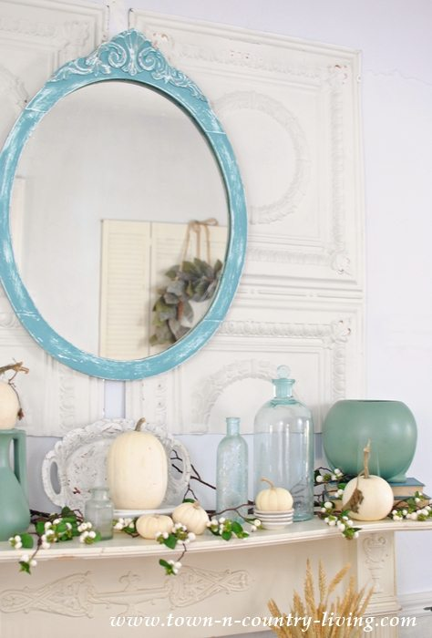 Autumn Mantel Mirror Vases