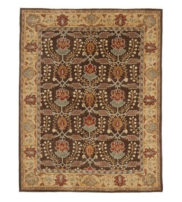 rugs pottery barn oriental brown