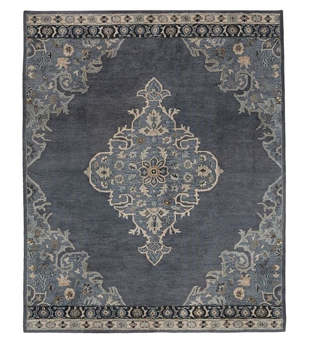 rugs pottery barn oriental dark grey