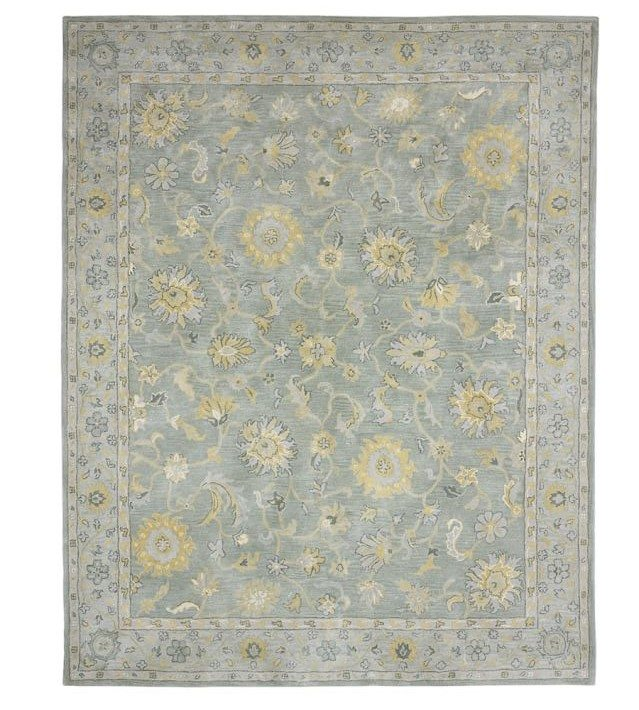 rugs pottery barn oriental blue