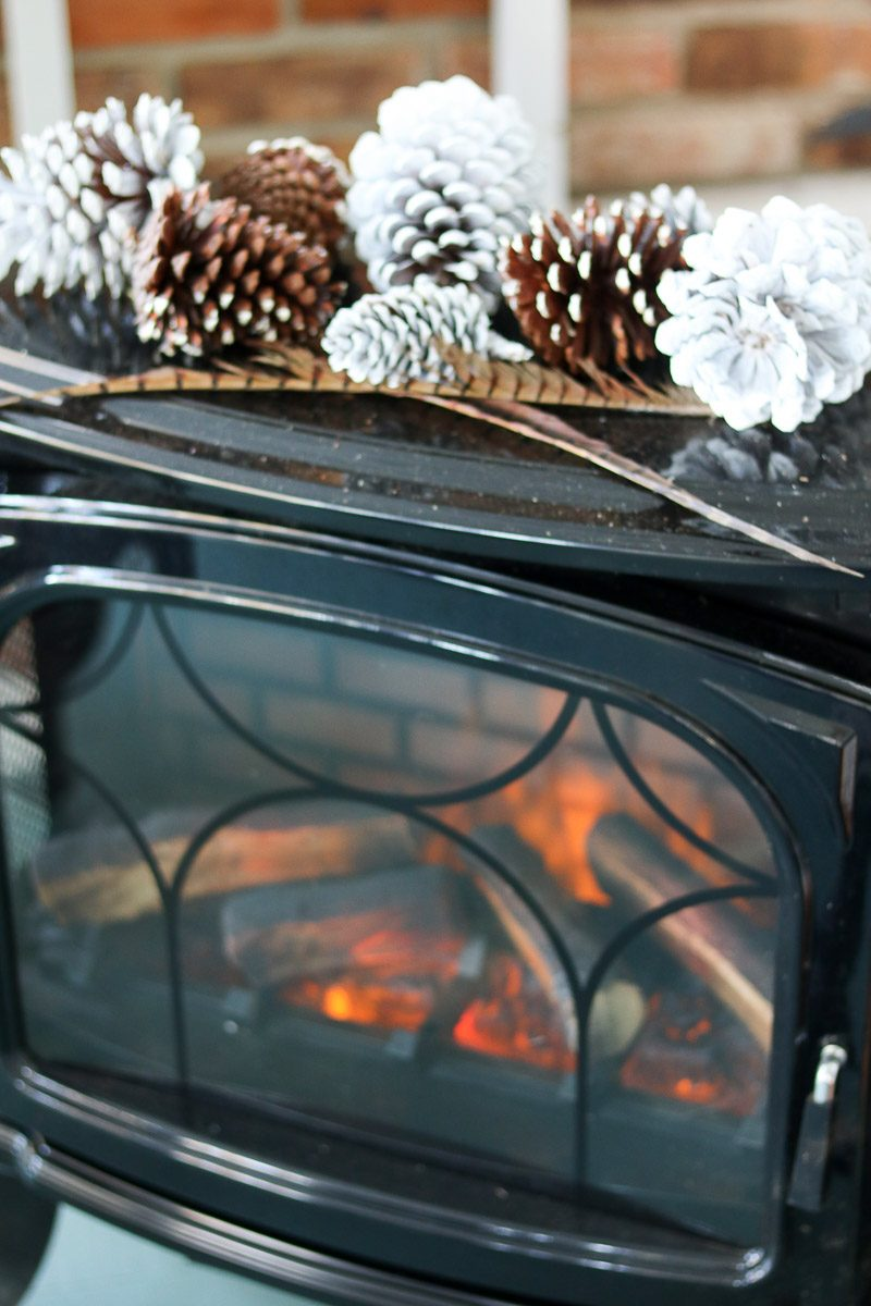 hygge thanksgiving table fireplace