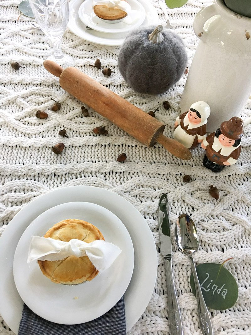 hygge thanksgiving table rolling pin
