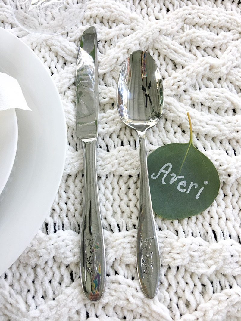hygge thanksgiving table turkey silverware