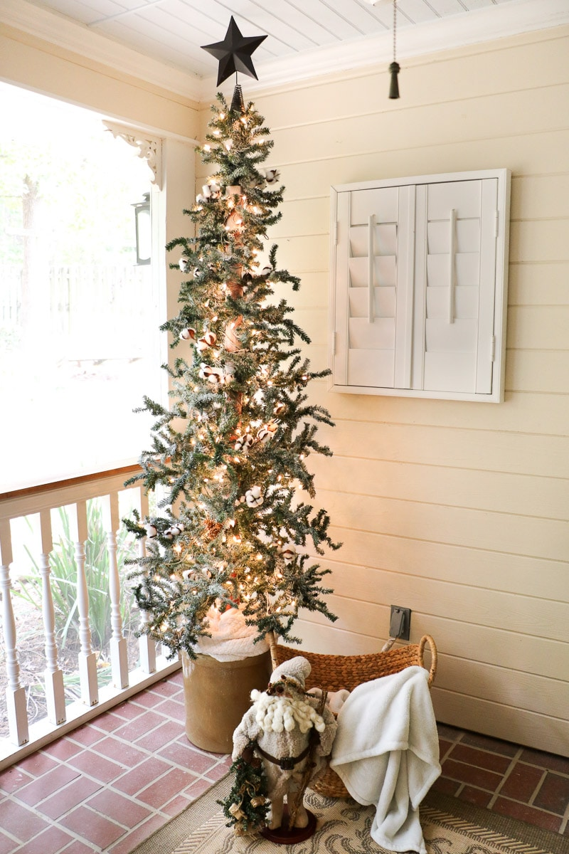 Christmas home tour back porch