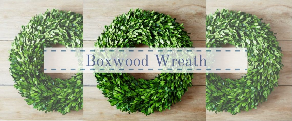 BOXWOOD WREATH & FRAMING A CHRISTMAS MIRACLE