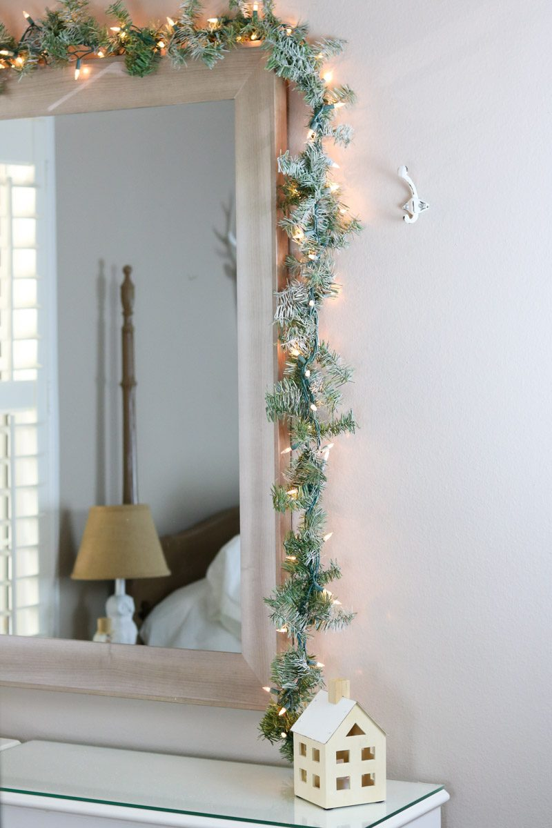 winter wonderland bedroom snow garland