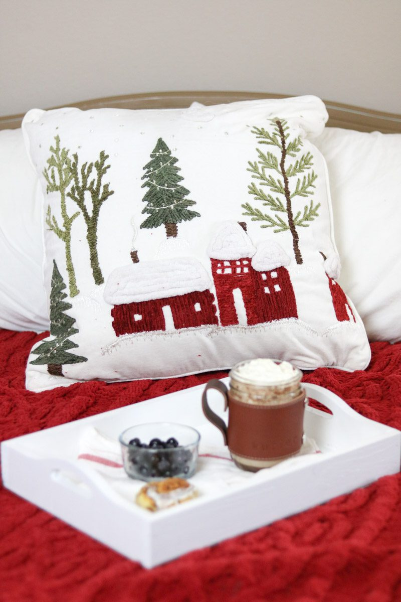 WINTER WONDERLAND BEDROOM pillow
