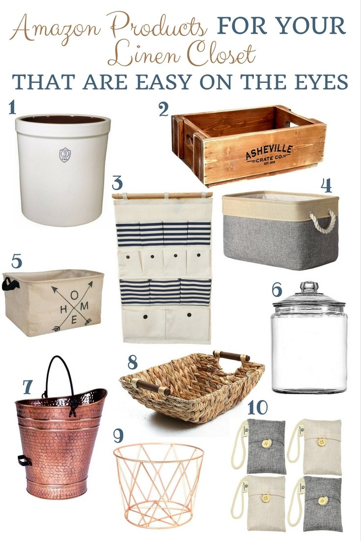 Amazon linen closet products farmhouse