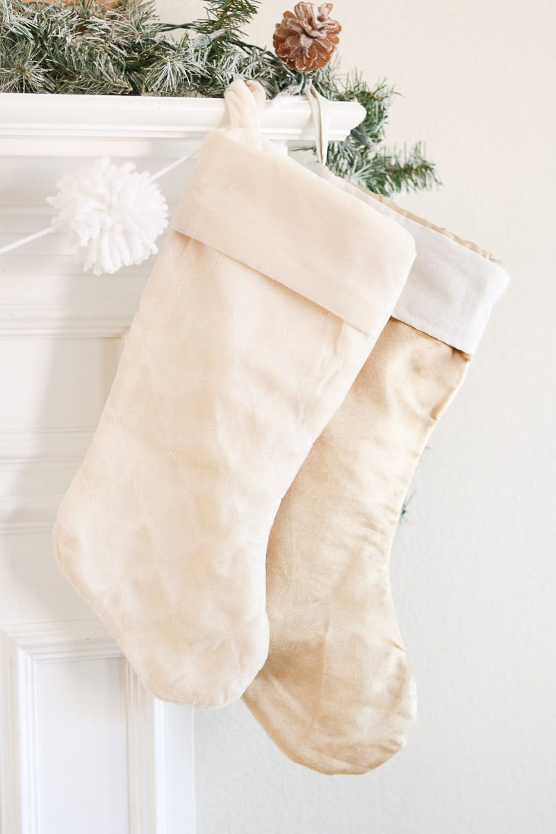 Christmas home tour stockings